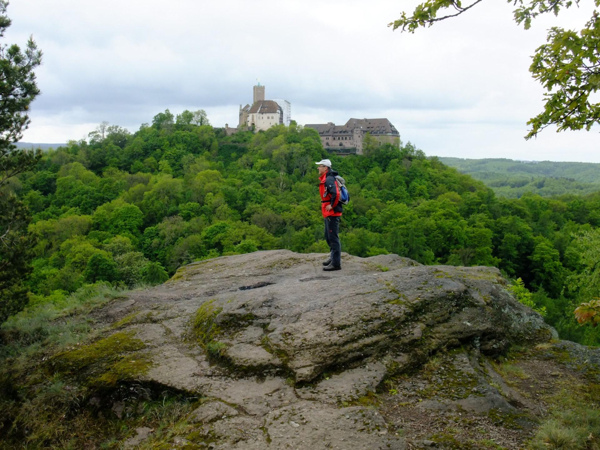 Blick vom Metilstein zur Wartburg