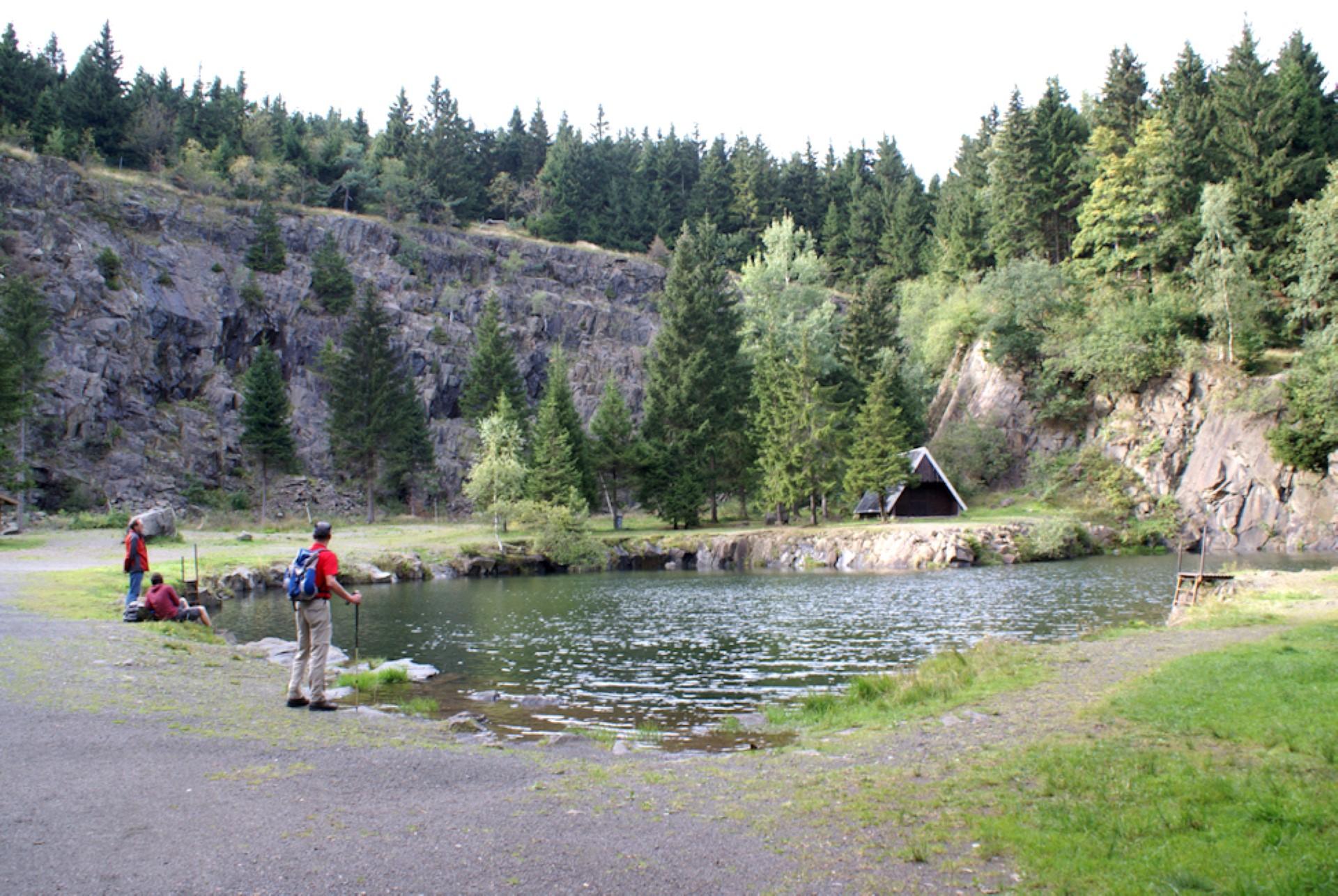 Traumhafte Kulisse am Bergsee Ebertswiese